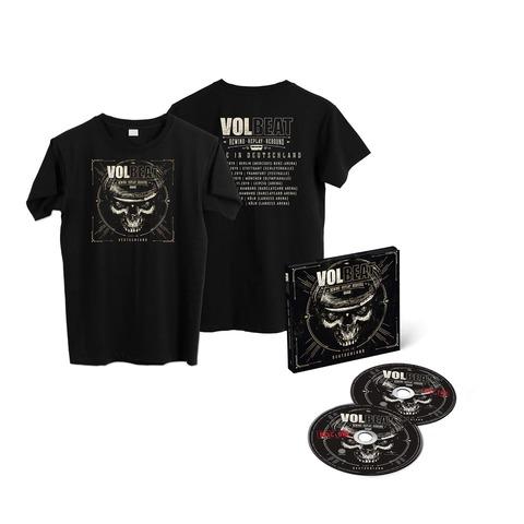 √Rewind, Replay, Rebound: Live In Deutschland (Ltd. 2CD + Shirt) von Volbeat - CD Bundle jetzt im uDiscover Shop
