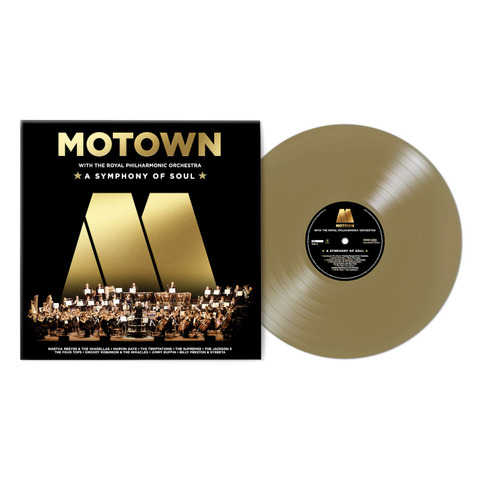 Motown: A Symphony Of Soul (With The Royal Philharmonic Orchestra) by Various Artists - Motown - Exclusive Gold Coloured Vinyl LP - shop now at uDiscover store