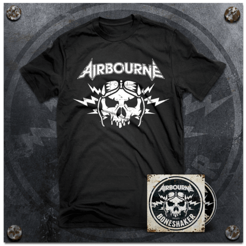 Boneshaker (Ltd Bundle: Ltd. Deluxe Edition + T-Shirt) von Airbourne - CD Bundle jetzt im uDiscover Shop