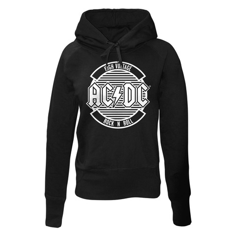 Logo Circle by AC/DC - Girlie hooded sweater - shop now at uDiscover store