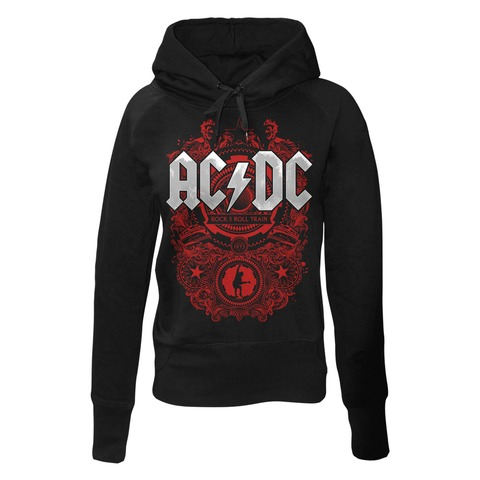 Rock N Roll Train by AC/DC - Girlie hooded sweater - shop now at uDiscover store
