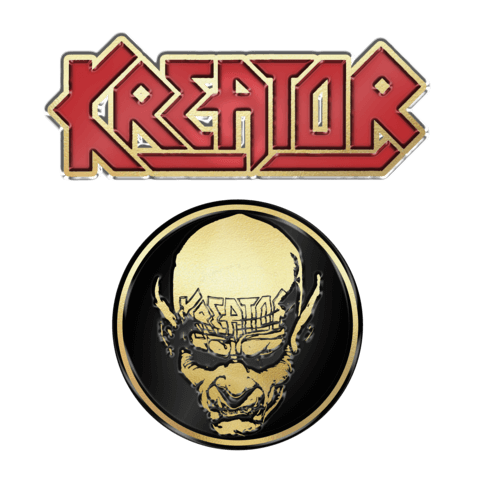 Skull n Logo by Kreator - 2er Pin Set - shop now at uDiscover store