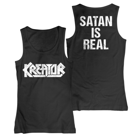 Logo - Satan Is Real by Kreator - Girlie tank top - shop now at uDiscover store