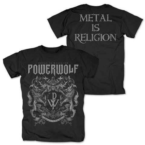 Crest - Metal Is Religion by Powerwolf - t-shirt - shop now at uDiscover store
