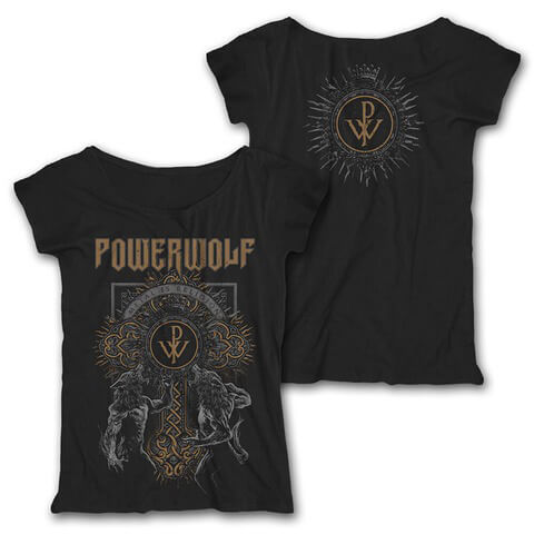 Wolf Cross by Powerwolf - Girlie Shirt Loose Fit - shop now at uDiscover store