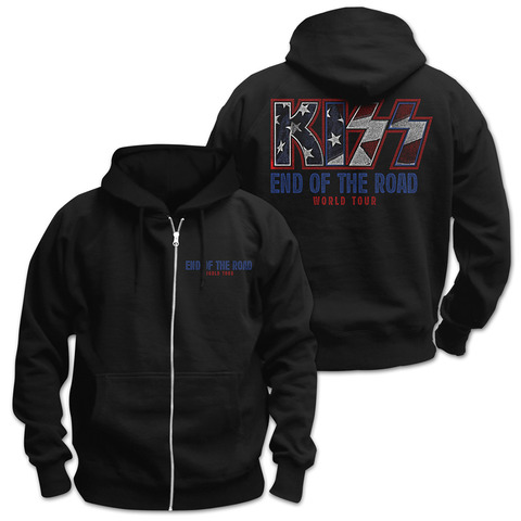 √End of the Road World Tour von Kiss - Hooded jacket jetzt im uDiscover Shop