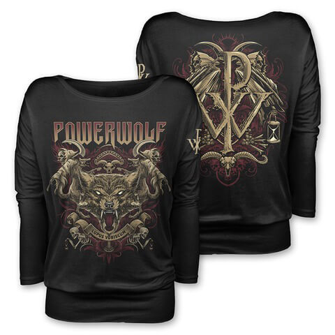 Lupus Vobiscum by Powerwolf - Girlie long-sleeve - shop now at uDiscover store