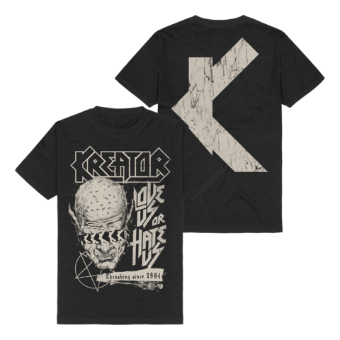 Love Us Or Hate Us by Kreator - t-shirt - shop now at uDiscover store