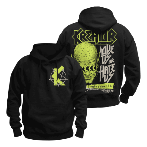 Love Us Or Hate Us by Kreator - Hood sweater - shop now at uDiscover store