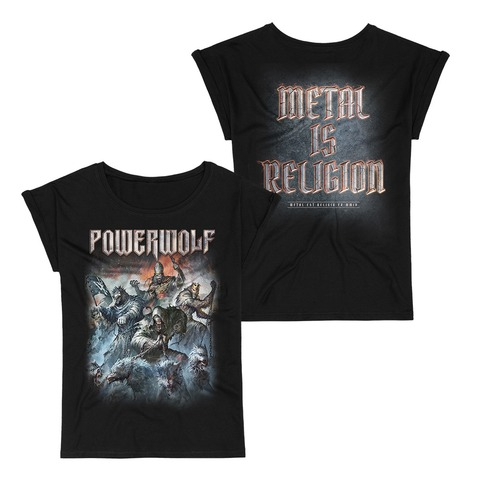 Best Of The Blessed Art by Powerwolf - Girlie Shirt - shop now at uDiscover store