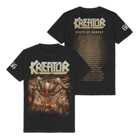 666 - State Of Unrest Tour 2020 by Kreator - T-Shirt - shop now at uDiscover store