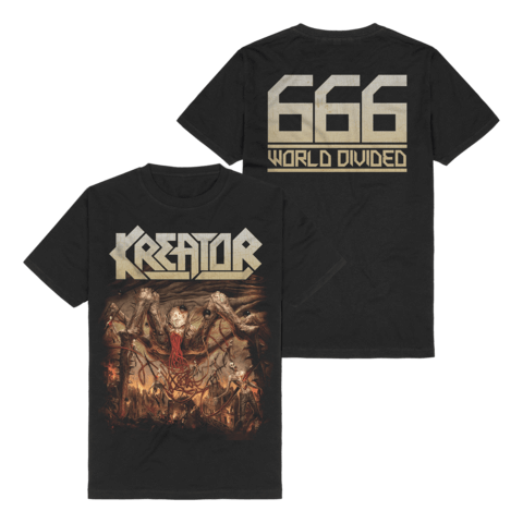666 - World Divided Single Art by Kreator - t-shirt - shop now at uDiscover store