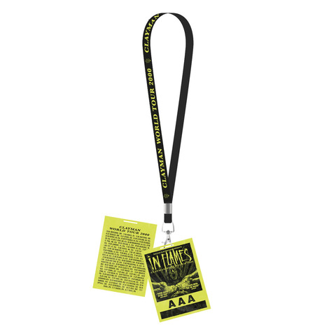 Clayman World Tour 2000 by In Flames - Lanyard with card - shop now at uDiscover store