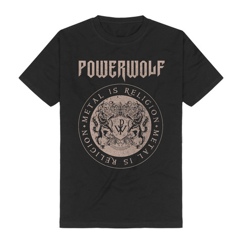 Crest Circle by Powerwolf - t-shirt - shop now at uDiscover store
