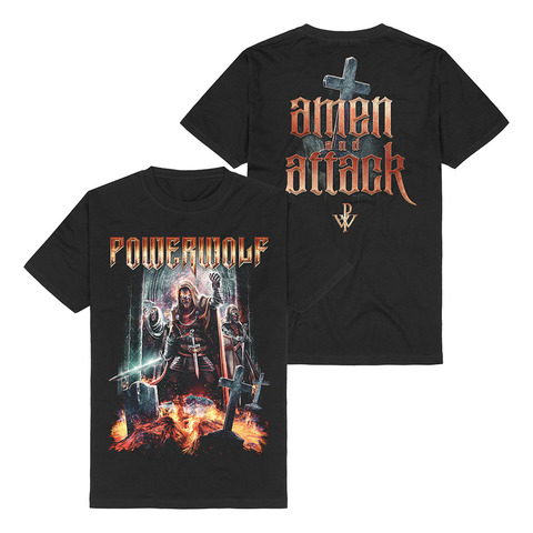 Amen & Attack by Powerwolf - t-shirt - shop now at uDiscover store