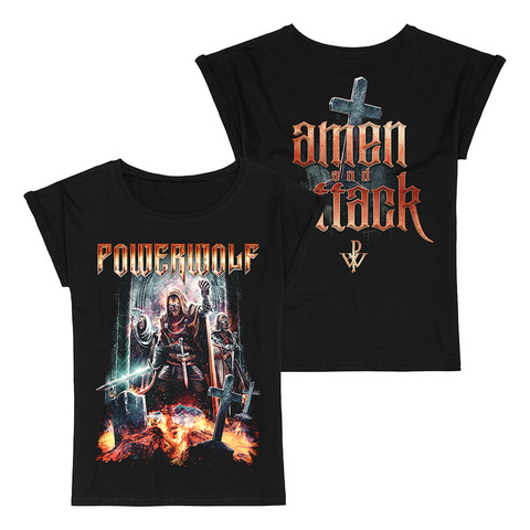 Amen & Attack by Powerwolf - Girlie Shirt - shop now at uDiscover store
