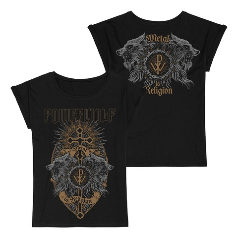 Crest Wolves by Powerwolf - Girlie Shirt Loose Fit - shop now at uDiscover store