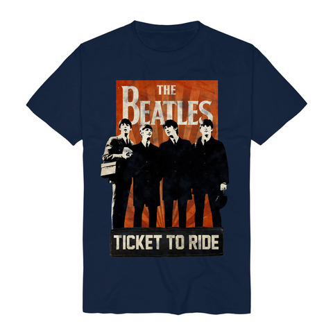 Ticket To Ride by The Beatles - t-shirt - shop now at uDiscover store